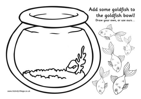 Goldfish Bowl Activity Printable