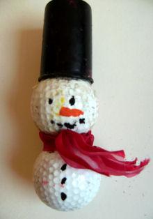 Golf Ball Snowman