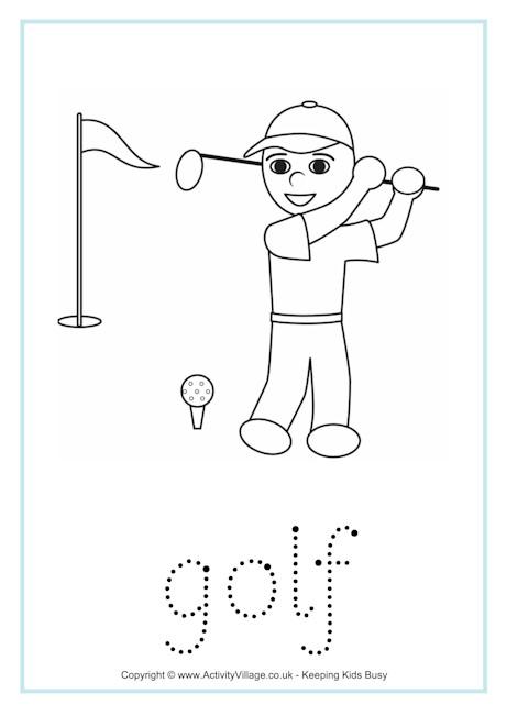 Golf Word Tracing