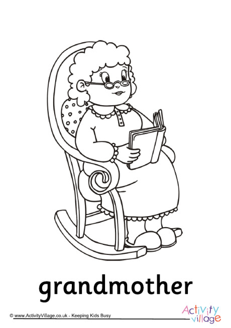 Grandmother Colouring Page
