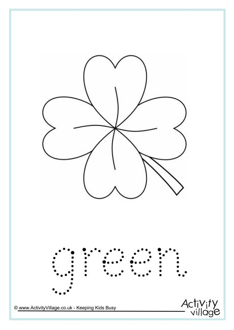 Green Word Tracing