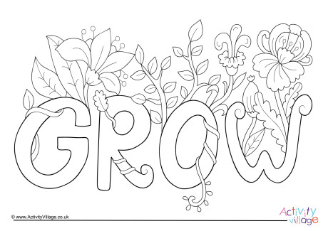 Grow Colouring Page