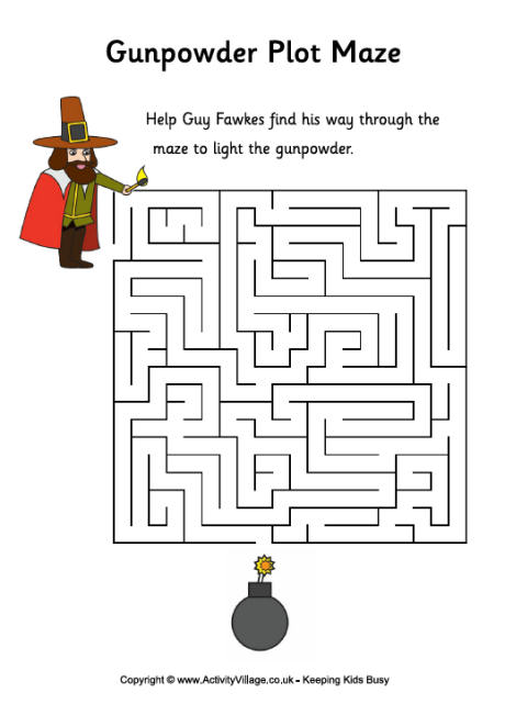 Gunpowder Plot Maze