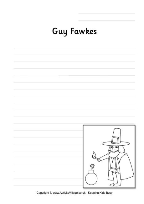 Guy Fawkes Writing Page