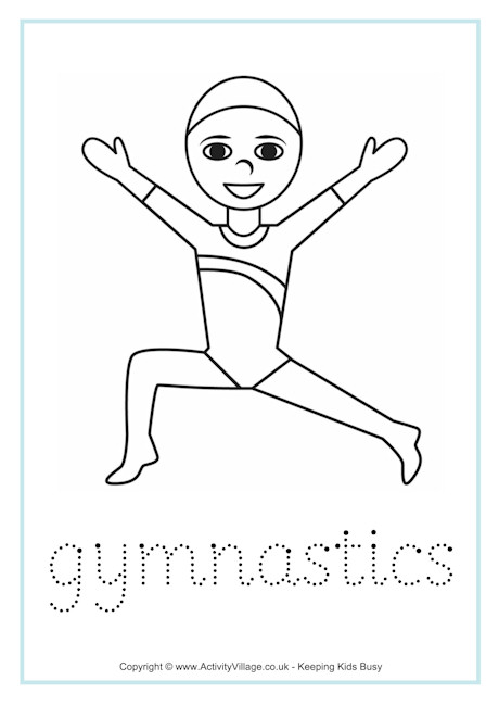 Gymnastics Word Tracing