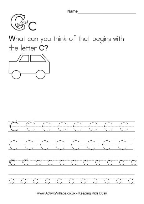 Handwriting Alphabet C