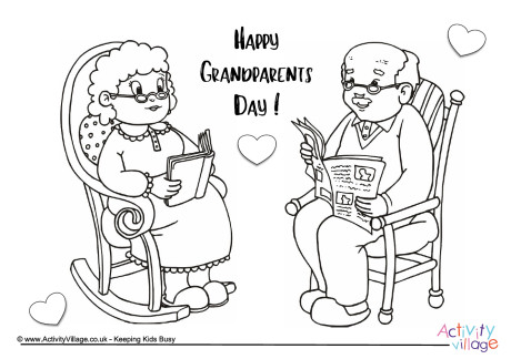 Happy Grandparents Day Colouring Page 2