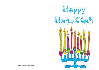 Hanukkah Colouring Pages