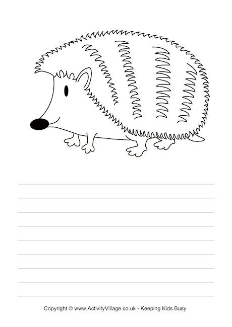 Hedgehog Story Paper