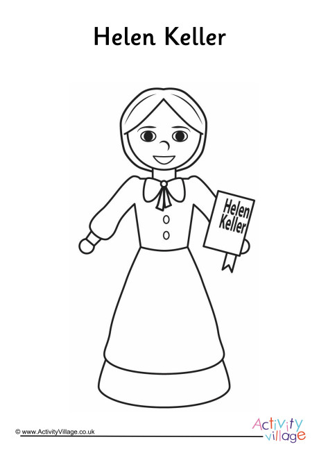 Helen Keller Colouring Page