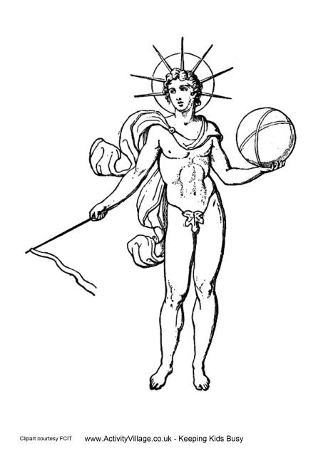 Helios Colouring Page