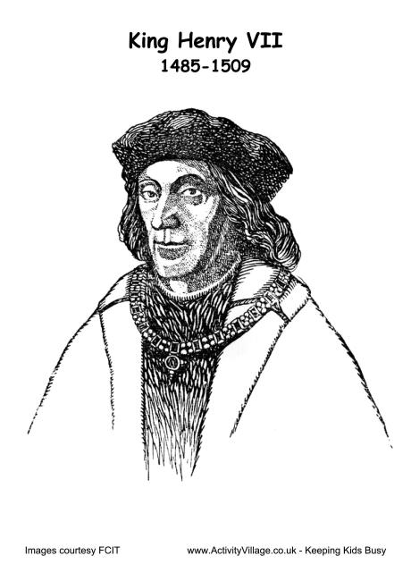 Henry VII Colouring Page 2