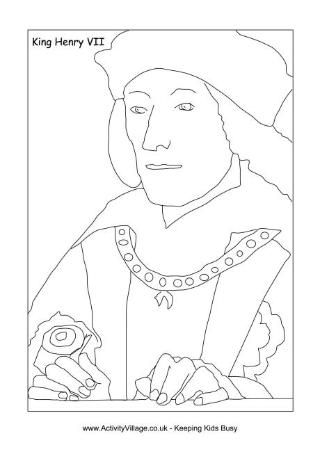 Henry VII Colouring Page