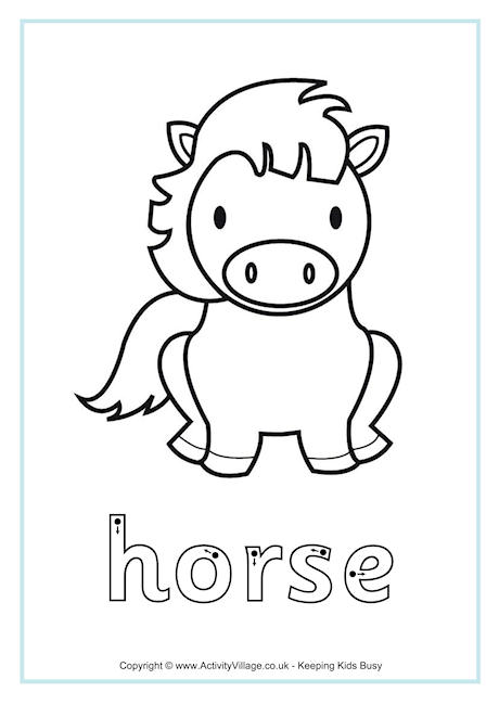 Horse Finger Tracing