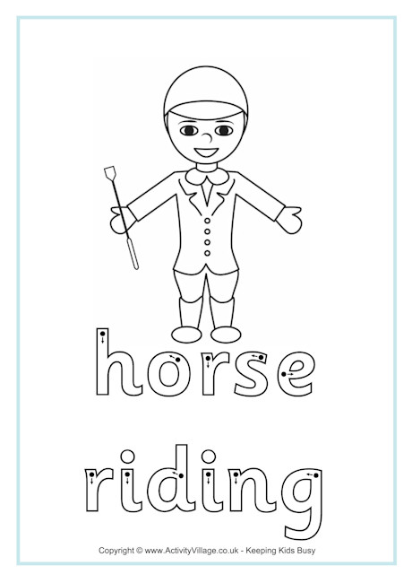 Horse Riding Finger Tracing