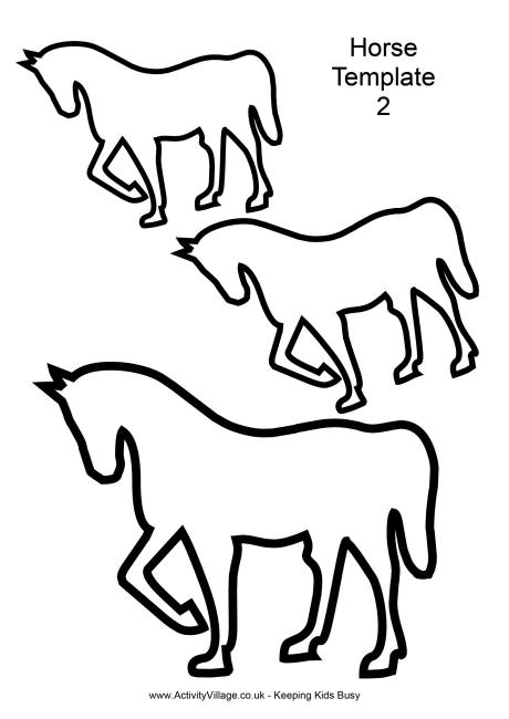 Horse Template 2