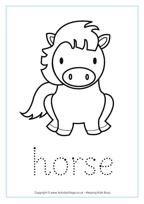 Horse Word Tracing