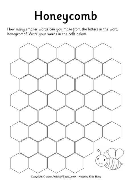 Honeycomb How Many Words Puzzle
