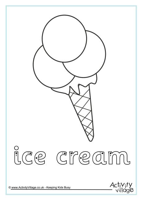 Ice Cream Finger Tracing