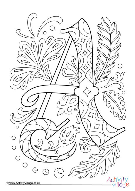 Illuminated Letters L Pages Coloring Pages