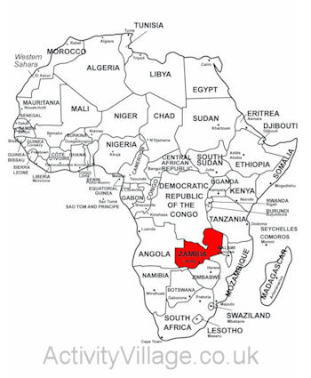Zambia Printables and Facts for Kids