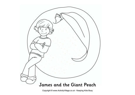 James and the Giant Peach Colouring Page