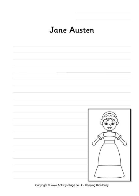Jane Austen Writing Page