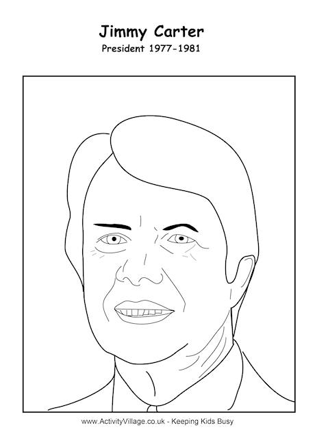 Jimmy Carter Colouring Page