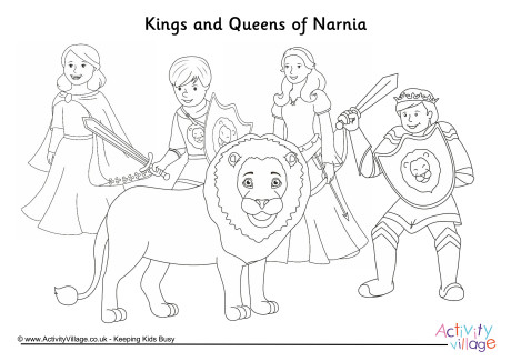 Kings and Queens of Narnia Colouring Page