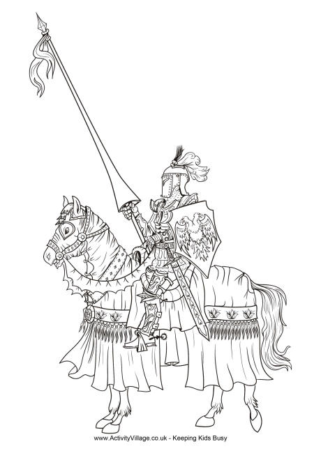knight coloring page # 15
