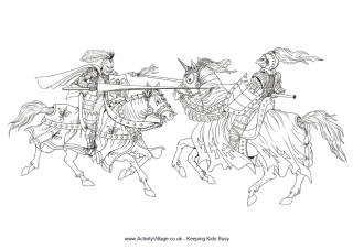 St George's Day Colouring Pages