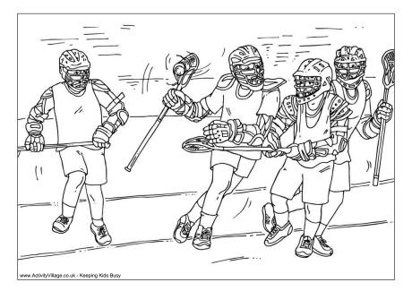 Lacrosse Colouring Page