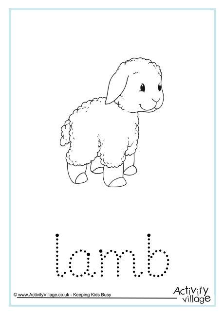 Lamb Word Tracing