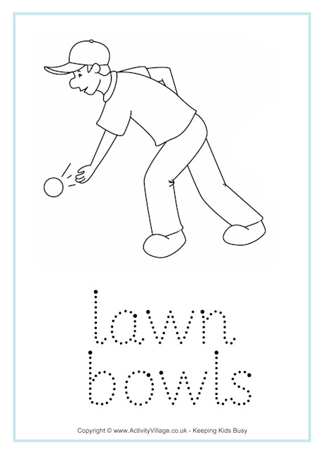 Lawn Bowls Word Tracing