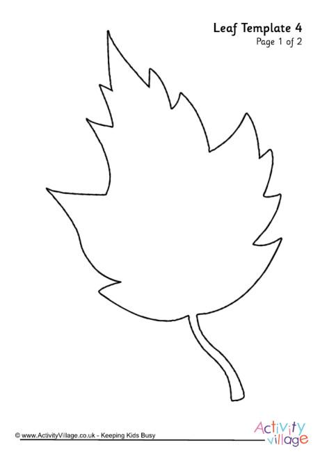 Leaf Template 4