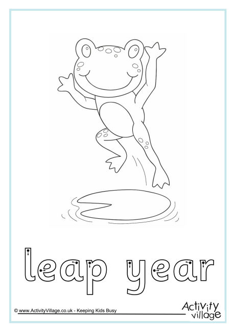 Leap Year Finger Tracing