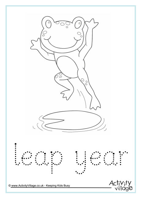 Leap Year Word Tracing