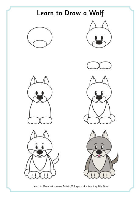 Learn to Draw a Wolf