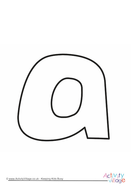 Letter Template Lower Case A Quirky