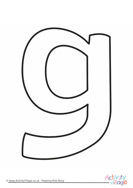 Letter Template Lower Case G Quirky