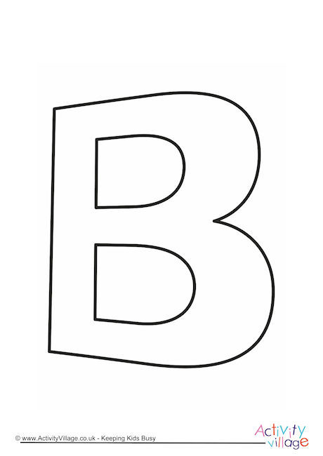 Letter Template Upper Case B Quirky
