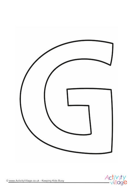 Letter Template Upper Case G Quirky