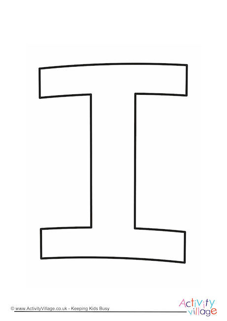 Letter Template Upper Case I Quirky