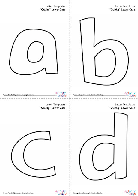 All Letter Templates Lower Case Quirky
