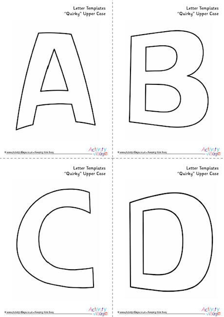 All Letter Template Upper Case Quirky