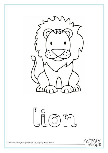 Lion Finger Tracing