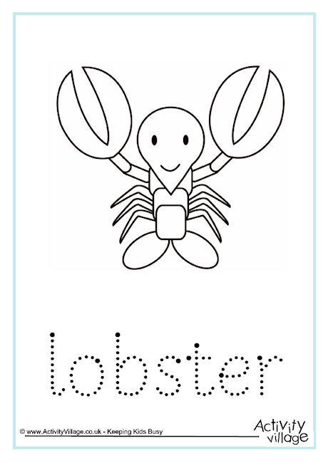 Lobster Word Tracing