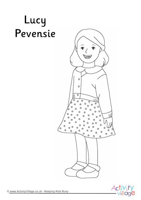 Lucy Pevensie Colouring Page