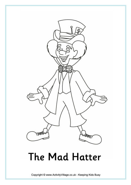 Mad Hatter Coluring Page