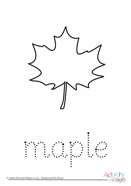 Maple Word Tracing